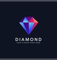 modern abstract diamond logo icon vector image vector image