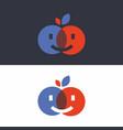 modern professional sign logo smile kiss vector image