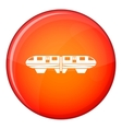 Monorail train icon flat style vector image vector image