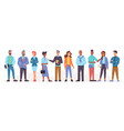 multinational and multicultural team people vector image