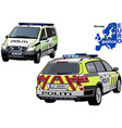 norway police car vector image vector image