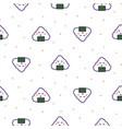 onigiri rice ball japan seamless pattern vector image