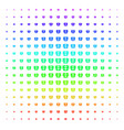 open box shape halftone spectrum pattern vector image vector image