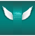 Paper wings vector image vector image