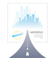 road to city highway perfect design big vector image