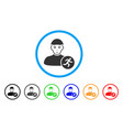 running man rounded icon vector image vector image