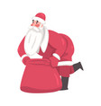 santa claus cute christmas character with heavy vector image