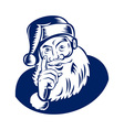 Santa Claus pointing a finger vector image vector image