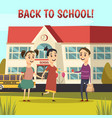 school orthogonal composition vector image vector image