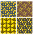 seamless pattern shape silhouette shiny star vector image