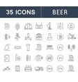 Set Flat Line Icons Beer