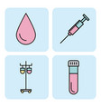 set of medical equipment instrument healthcare vector image vector image