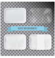 set of white rectangle styrofoam plastic food tray vector image