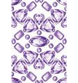 shiny violet amethyst vector image