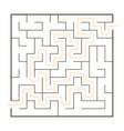 simple maze vector image vector image