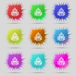 skyscraper icon sign A set of nine original needle vector image vector image