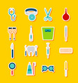 stickers medical tools vector image vector image