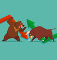 stock market bull vs bear vector image
