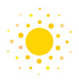 summer symbol sun modern icon dots and points vector image vector image