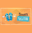 summer vacation sea travel retro banner seaside vector image