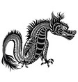 tattoo dragon vector image