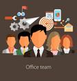 team management flat eps10 vector image