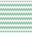 tile pattern with green zig zag print on white vector image vector image