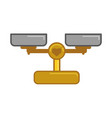 weight beam balance vector image
