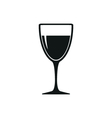 Wineglass with white or red wine vector image