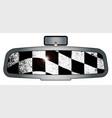 winners rear view mirror vector image vector image