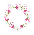 wreath perfect for invitations greeting cards vector image vector image