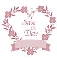 wreath wedding vector image vector image