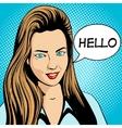 Young woman pop art retro vector image vector image