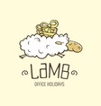 modern professional sign logo lamb holiday vector image