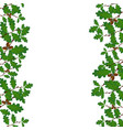 green branches of oak with acorns on both sides vector image