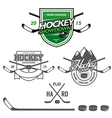 Ice hockey labels badges and design elements vector image