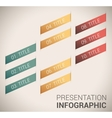 Modern soft color Design template infographics vector image
