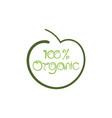 organic sign vector image