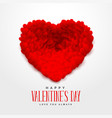 3d red hearts for happy valentines day vector image vector image