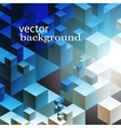 abstract cube background vector image vector image