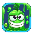 App icon with funny green slimy monster vector image vector image