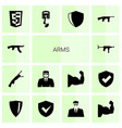 arms icons vector image vector image