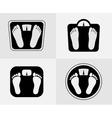 Bathroom scales icon Weight control sign vector image vector image