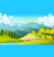 beautiful summer fields vector image