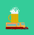 beer car food truck alcohol fast food car vector image vector image