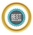 Best seller badge icon vector image