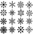 Black Snowflakes Silhouette Collections vector image vector image