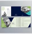 brochure design 1136 vector image vector image