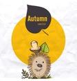 Cartoon Hedgehog With Mushroom vector image vector image