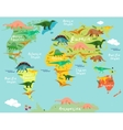 Cartoon map vector image vector image